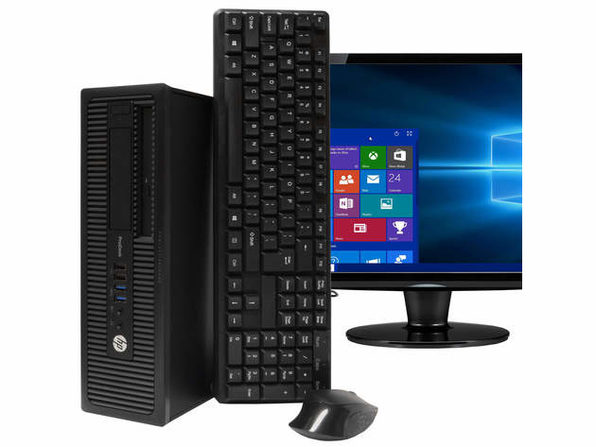 "HP ProDesk 600G1台式机,3.2GHz Intel i5四核Gen 4、8GB RAM,240GB SSD,Windows 10 Home 64位,22"" Screen (Renewed)"