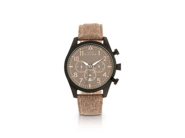 Elevon Curtiss Chronograph Watch (Beige/Black)