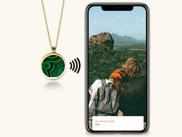 Evermée 18K Gold Vermeil Smart Locker (Green Malachite)