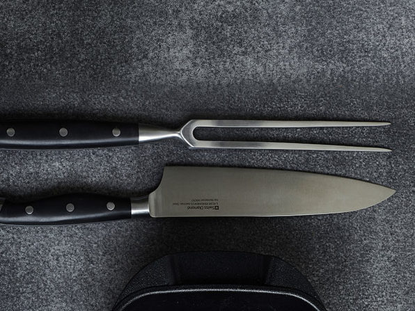 Swiss Diamond® Carving Knife & Fork Set