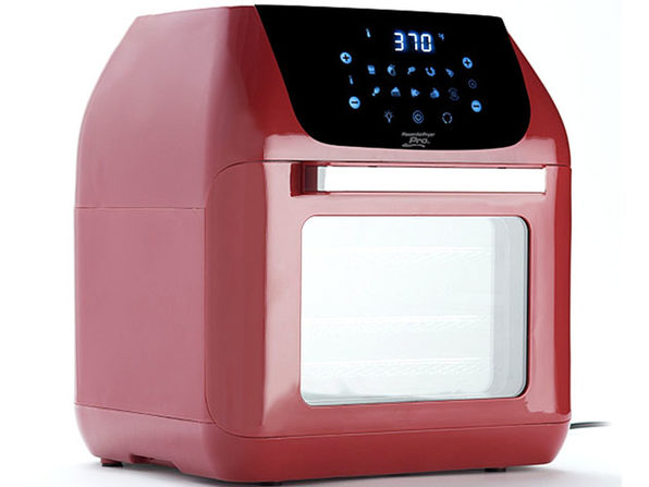 PowerXL 10-in-1 Pro XLT 6QT Air Fryer Oven with Rotisserie - Dark Red (Factory Remanufactured)