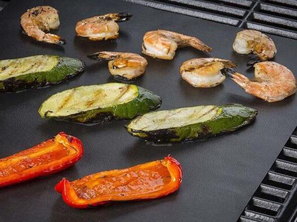 Reusable Heat Resistant Non-Stick BBQ Grilling Pads
