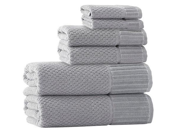 Timaru Turkish Towels 6-Piece Set (Silver)