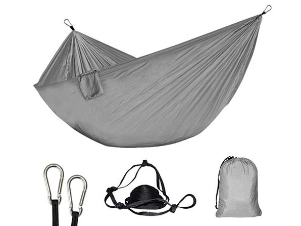 Foldable Nylon Hammock (Gray)