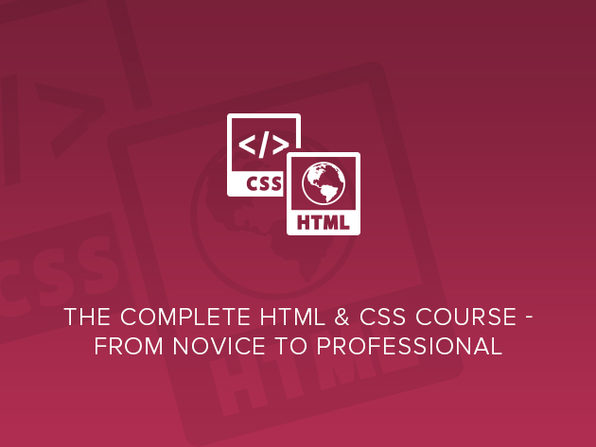 The Complete HTML & CSS Course - From Novice to Professional - Product Image