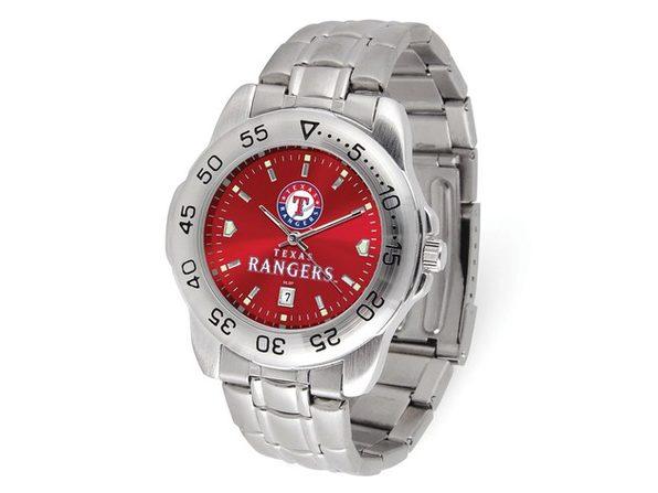 MLB Mens Texas Rangers Sport Steel Watch - Product Image