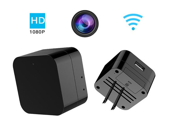 WiFi Hidden Camera Wall Charger With Night Vision & 32GB SD Card