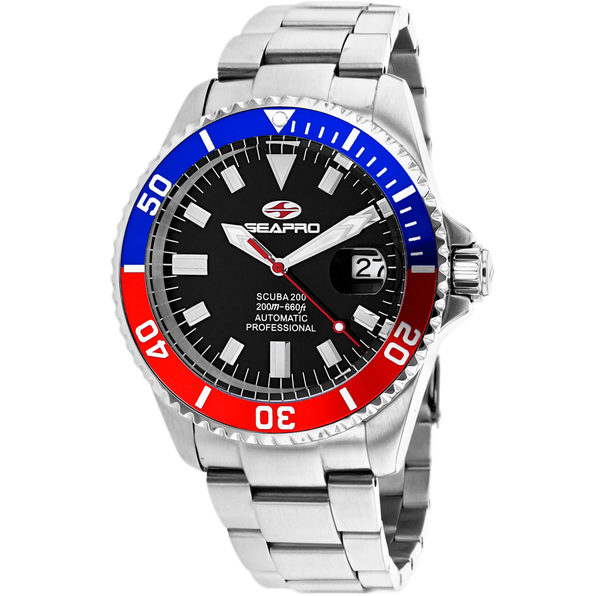 Seapro Men's Scuba 200 Black Dial Watch - SP4319