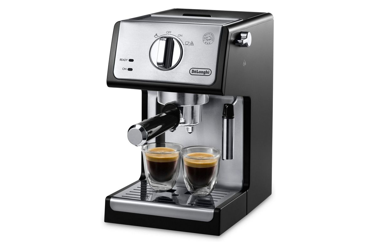 DeLonghi ECP3420 Bar Stainless Steel Pump Espresso and Cappuccino Machine, Black (New Open Box), on sale for $126.64