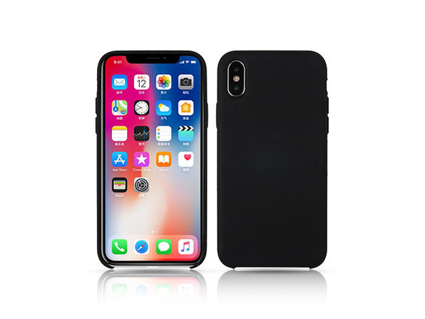 Silicone Case for iPhone X Black - Product Image