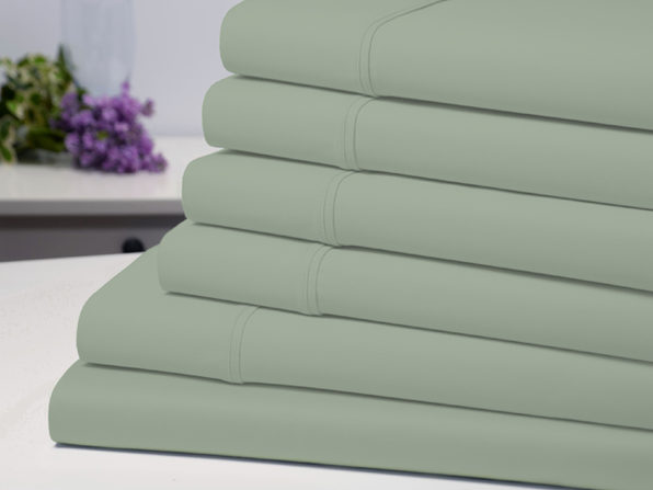 Bamboo Comfort 6 Piece Luxury Sheet Set - Sage (King) - Product Image