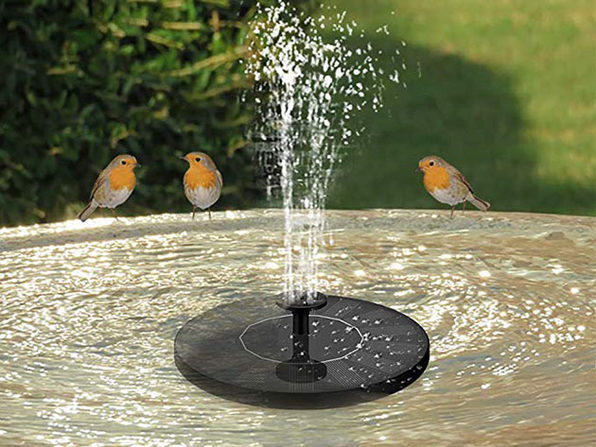 Solar Water Fountain with Assorted Heads (2-Pack)