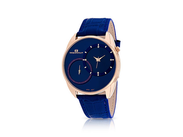 Oceanaut Sentinel Watch Blue + Rose Gold - Product Image