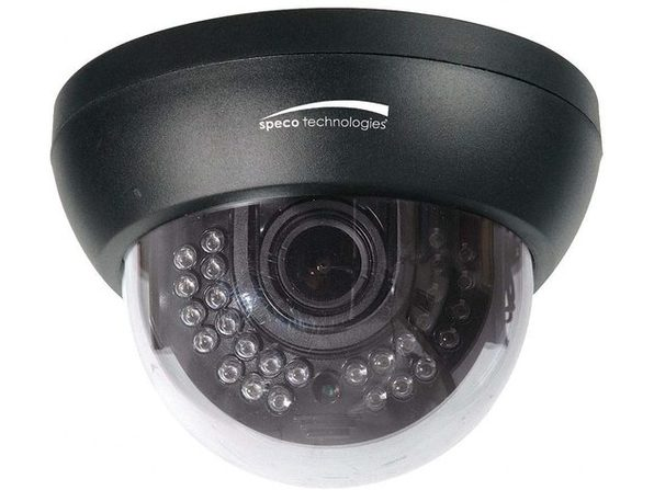1000TVL INDOOR IR DOME DUAL VOLTAGE CAMERA WITH 2.8-12MM LENS - Product Image