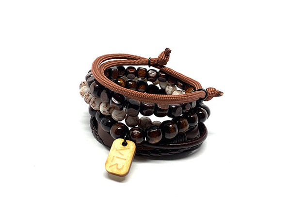 The 5 Stack Variety Pack Bracelets (Brown)