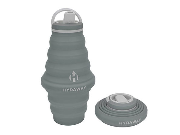 Hydaway 25oz Collapsible Water Bottle with Spout Lid (Thunder Grey)