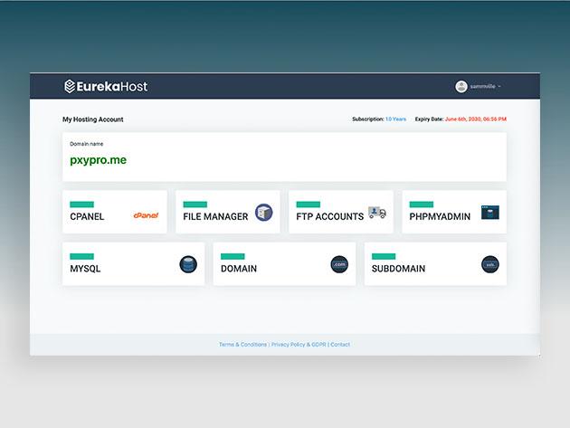 EurekaHost Unlimited Plan: Lifetime Subscription