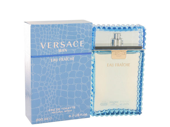 Versace Man by Versace Eau Fraiche Eau De Toilette Spray (Blue) 6.7 oz Great price and 100% authentic