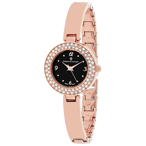Christian Van Sant Women's Palisades Black Dial Watch - CV8615 - Product Image