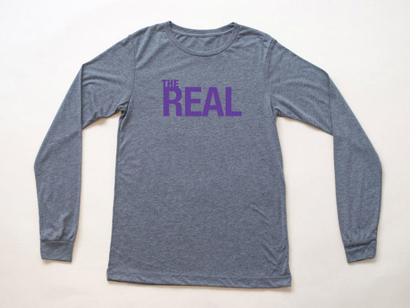 The Real Heather Gray Long Sleeve Shirt (XL)
