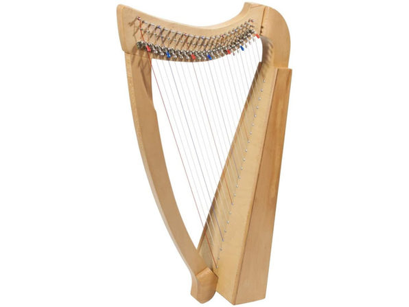 Roosebeck 22String Heather Harp w/Full Chelby Levers Handcrafted from Solid Wood (Like New, Damaged Retail Box)
