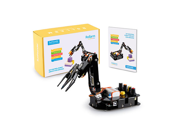 SunFounder Robotic Arm Edge Kit for Arduino, now on sale for $54.99