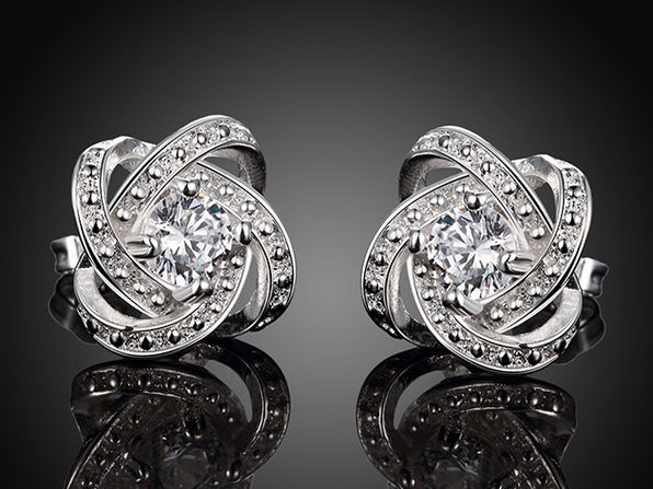 "Swarovski Crystals ""Million Shining Lights"" Stud Earrings"