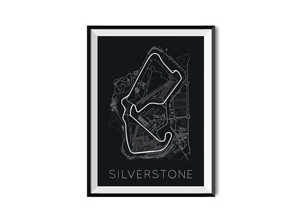 """The Blueprint of Velocity Silverstone Circuit Poster (18""""x 24"""")"""