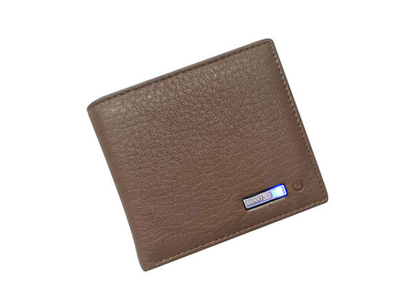 WalletGuard24: Smart Bluetooth Wallet (Brown)