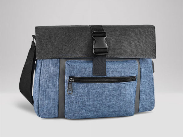 Charging Messenger Bag + 2 Skinny Ties