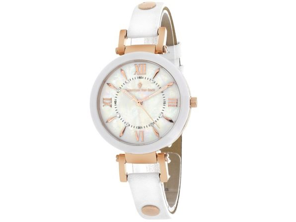 Christian Van Sant Women's Petite White MOP Dial Watch - CV8163