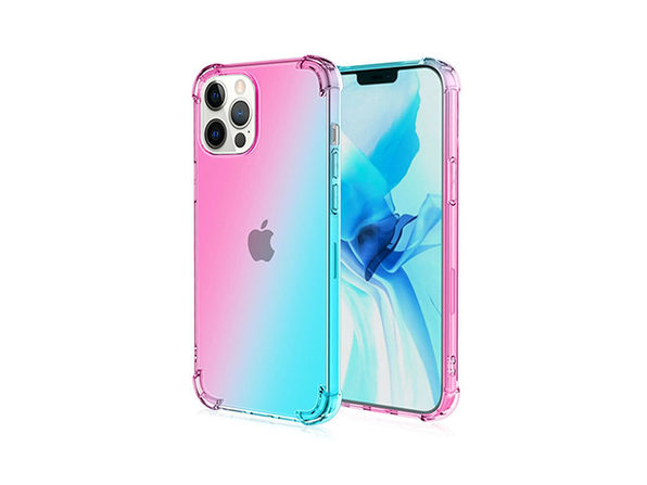 iPhone 12 Pro Max Dual Tone Case Pink & Teal - Product Image
