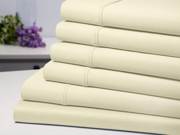 Bamboo Comfort 6-Piece Luxury Sheet Set (Ivory/Full)