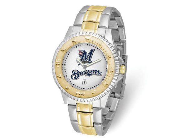 MLB Mens Milwaukee Brewers Competitor Watch - Product Image