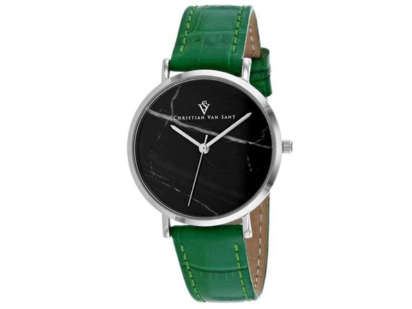 Christian Van Sant Women's Lotus Black Dial Watch - CV0421 - Product Image