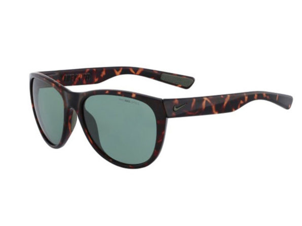 Nike Compel EV0883 Men's Sunglasses with Tortoise Frames and Green Lens - Brown
