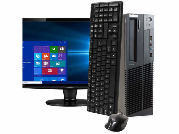"Lenovo ThinkCentre M92 Desktop PC, 3.2GHz Intel i5 Quad Core Gen 3, 4GB RAM, 250GB SATA HD, Windows 10 Home 64 bit, BRAND NEW 24"" Screen (Renewed)"