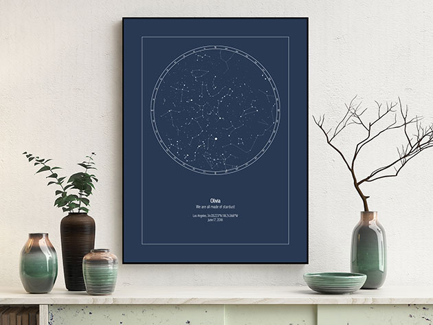 A star map poster.