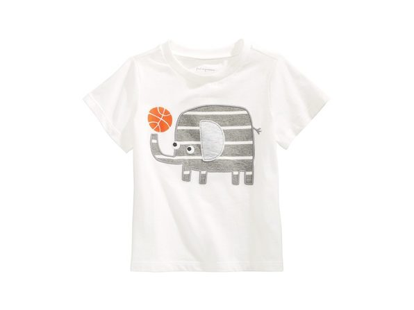 First Impressions Baby Boys Cotton Elephant T-Shirt Whie Size 18 Months