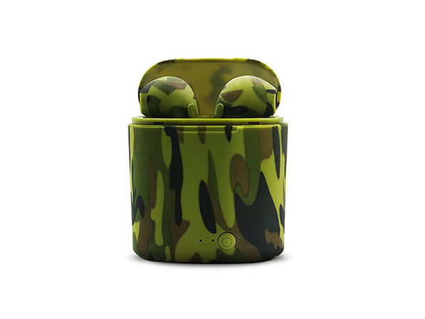 iPM I7TWS Wireless Bluetooth Earpods Stereo Earbuds Green Camo - Product Image