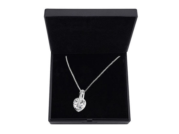 Heart Pendant Necklace with 15mm Swarovski Crystal