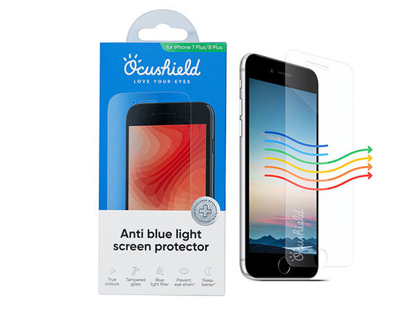 Ocushield Anti-Blue Light Screen Protector for iPhone 7/8 Plus