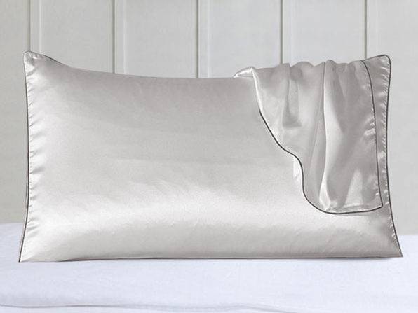 100% Silk Pillowcases with Trim: Set of 2