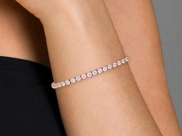 10 Carat Vivid Flawless 4mm Tennis Bracelet