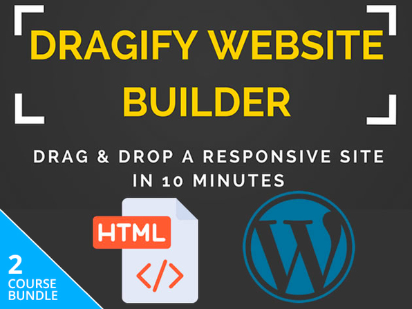 Dragify HTML + WordPress Website Builder Bundle: Lifetime Subscription