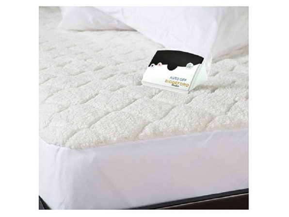 Biddeford Quilted Sherpa Electric Heated Mattress Pad Twin Full Queen King Cal King - White