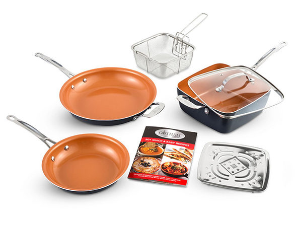Gotham Steel 1371 Tastic Bundle 7-Piece Cookware Set