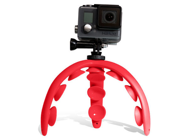 Tenikle® 2.0: Bendy Suction Phone Mount (Red)