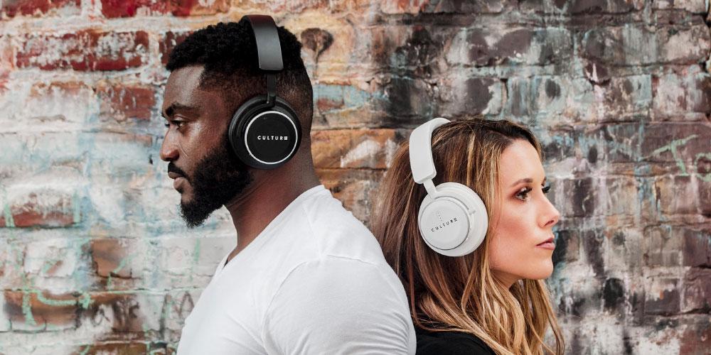 Culture Audio V1 Noise-Cancellation Bluetooth Headphones Black