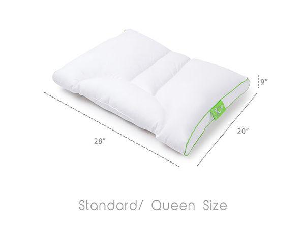 Sleep Yoga®: Dual-Neck Pillow with Pillow Cover (Medium Soft)